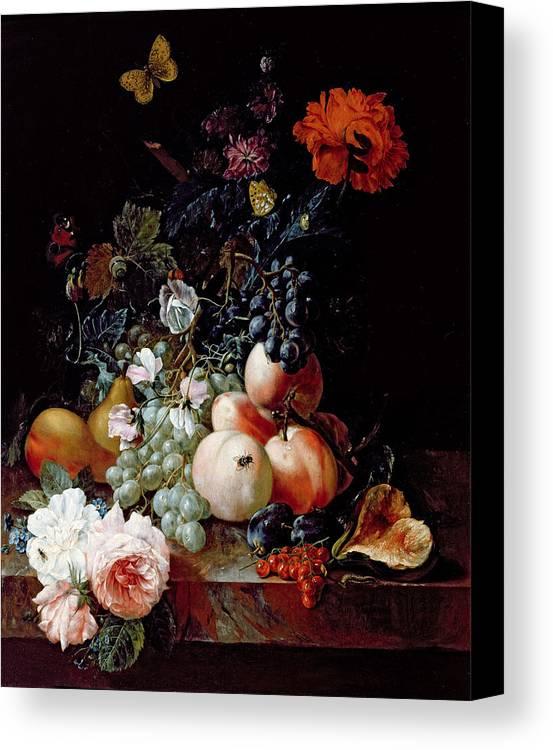 Still Canvas Print featuring the painting Still Life by Johann Amandus Winck