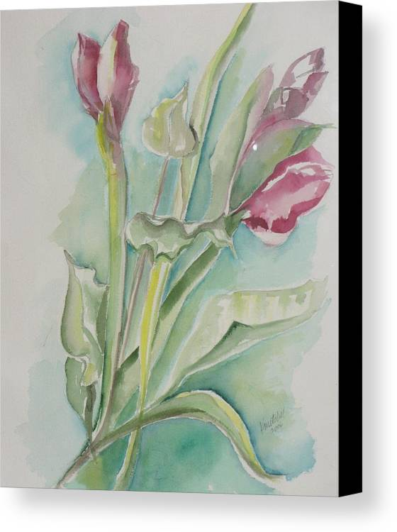 Floral Canvas Print featuring the painting Still Life Spring by Kathy Mitchell
