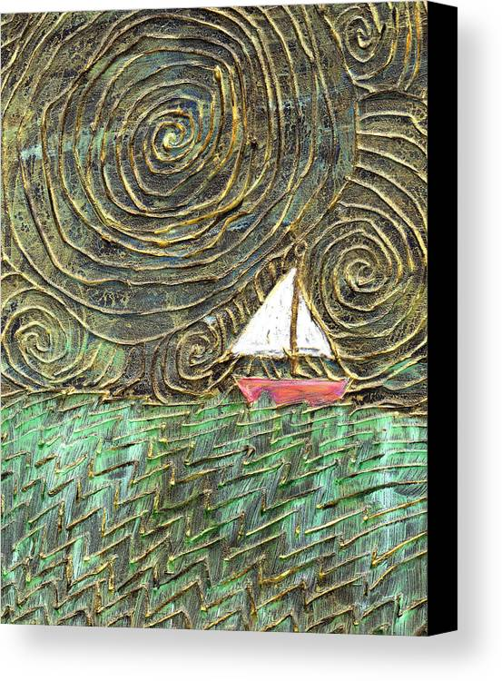 Storm Canvas Print featuring the painting Stormy Night by Wayne Potrafka