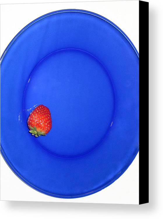 Strawberry Canvas Print featuring the photograph Strawberry by Jessica Wakefield
