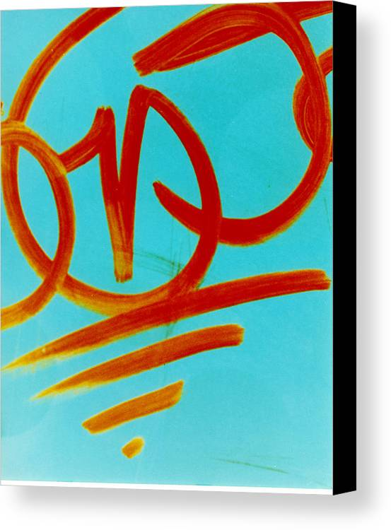 Abstract Canvas Print featuring the photograph Symbols by David Rivas