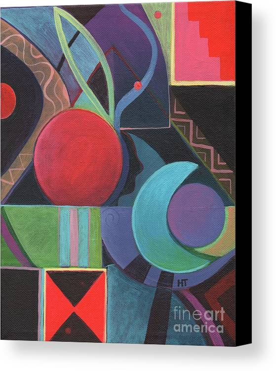 Acrylic Painting Canvas Print featuring the painting Synergy by Helena Tiainen