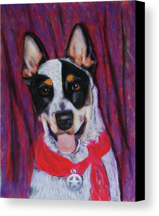 Dingo Canvas Print featuring the painting Texas Ranger by Billie Colson