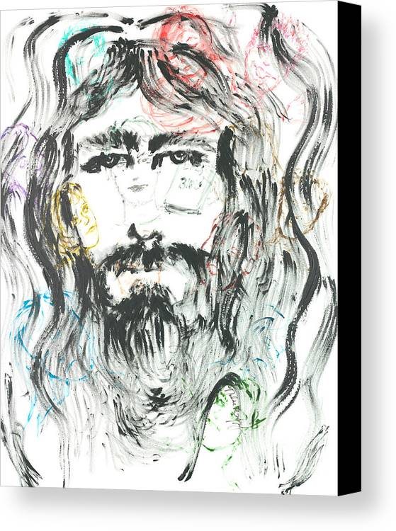 Jesus Canvas Print featuring the painting The Emotions Of Jesus by Nadine Rippelmeyer