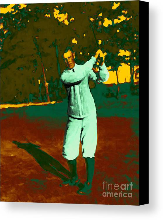Sport Canvas Print featuring the photograph The Golfer - 20130208 by Wingsdomain Art and Photography