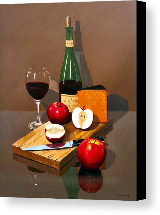 Still Life Canvas Print featuring the painting The Good Life by Brooke Lyman