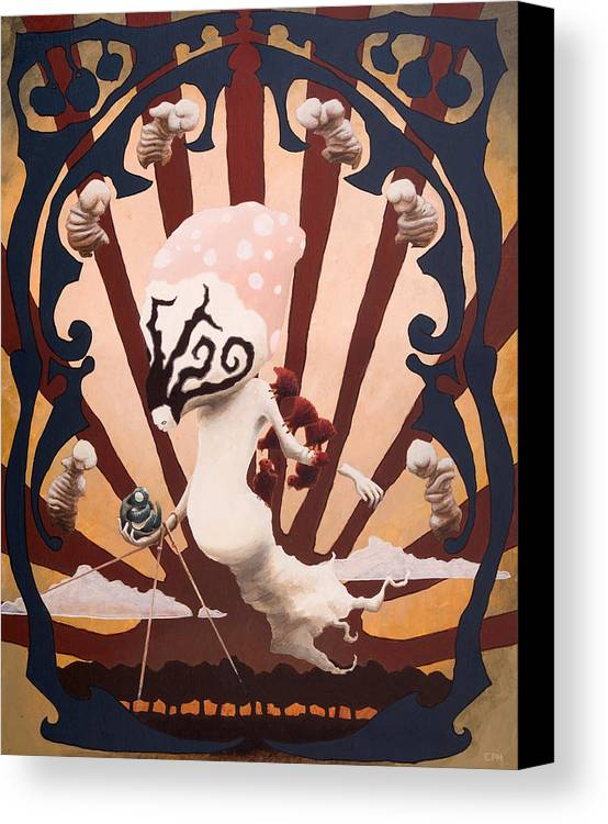 Strange Canvas Print featuring the painting The Jaded Nightgown by Ethan Harris