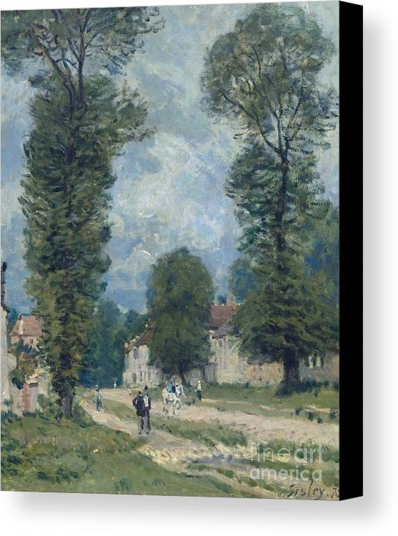 The Road To Versailles Canvas Print featuring the painting The Road To Versailles by MotionAge Designs