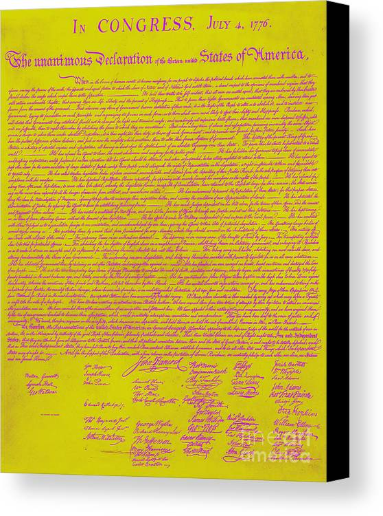 Usa Canvas Print featuring the photograph The United States Declaration Of Independence 20130215m68 by Wingsdomain Art and Photography