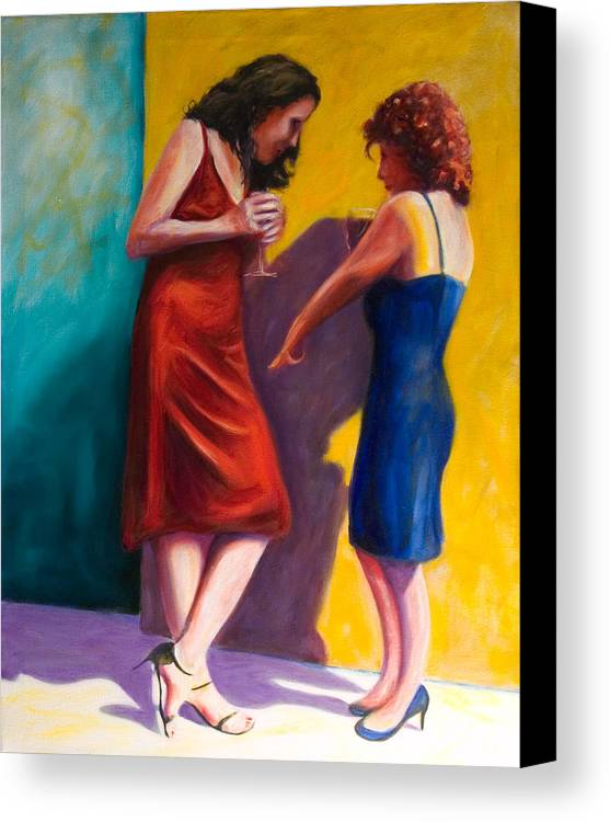 Figurative Canvas Print featuring the painting There by Shannon Grissom