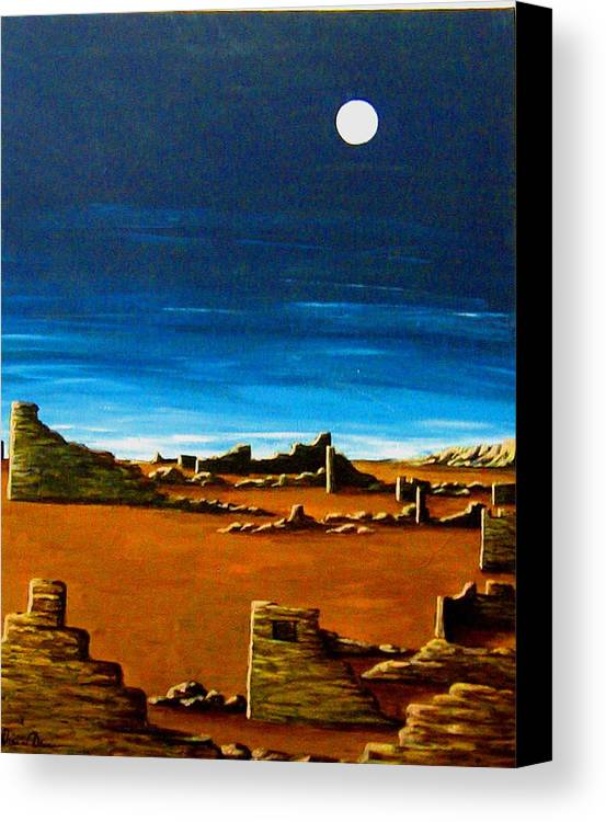 Anasazi Canvas Print featuring the painting Timeless by Diana Dearen