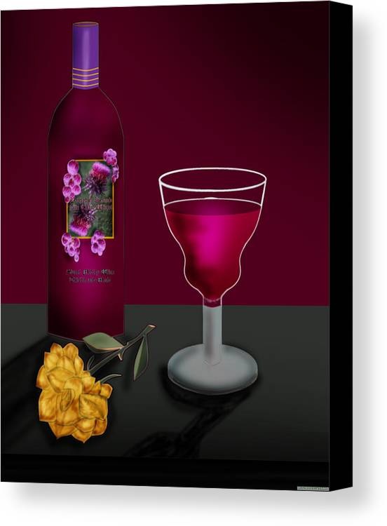 Still Life Canvas Print featuring the painting Tools Of The Trade by Anne Norskog