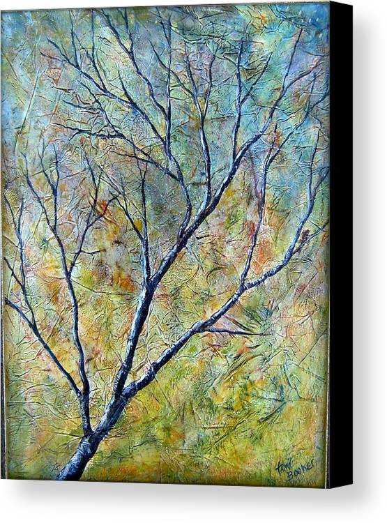 Canvas Print featuring the painting Tree Number One by Tami Booher