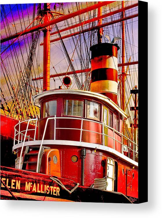 Tugboat Canvas Print featuring the photograph Tugboat Helen Mcallister by Chris Lord