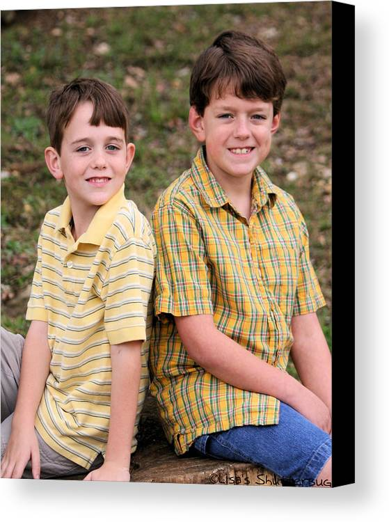 Canvas Print featuring the photograph Two Boys by Lisa Johnston
