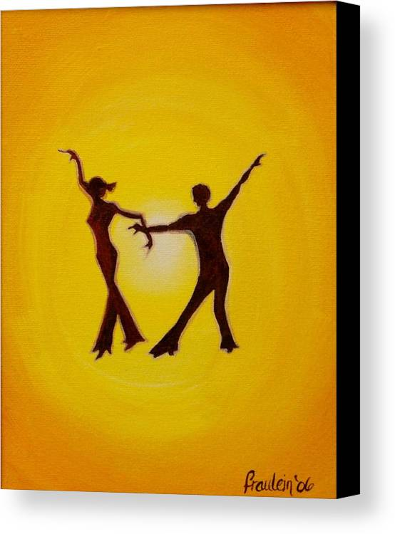 Contemporary Canvas Print featuring the painting Two To Tango by Glory Fraulein Wolfe