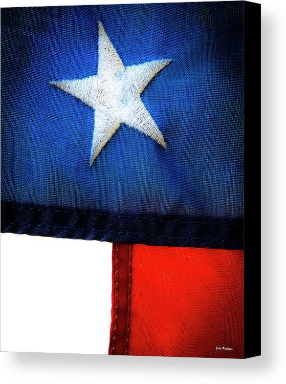 4th Of July Canvas Print featuring the photograph Variations On Old Glory No.7 by John Pagliuca