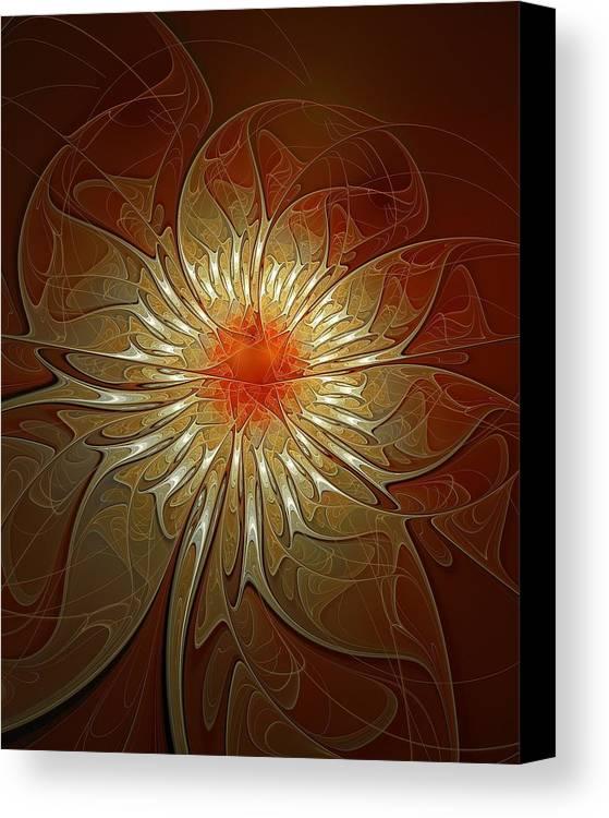 Digital Art Canvas Print featuring the digital art Vibrance by Amanda Moore