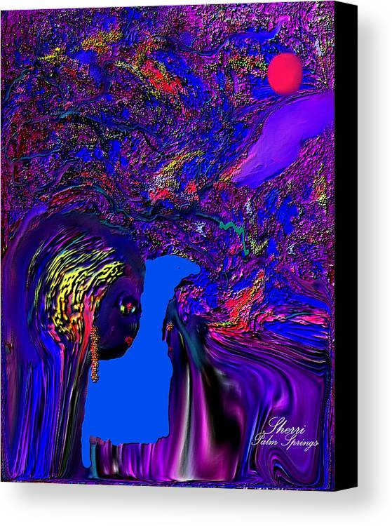 Planet Painting..alien Fun Painting Canvas Print featuring the digital art What Planet Are You Going To by Sherri's - Of Palm Springs