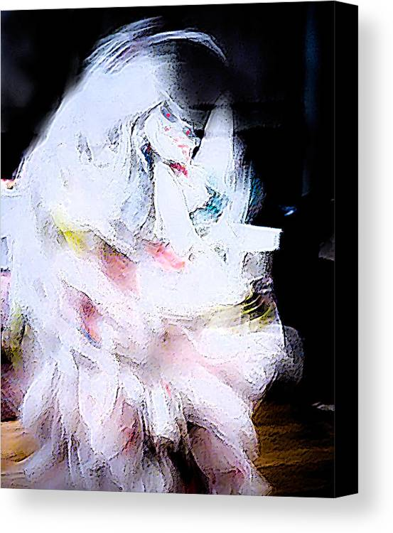 Bizzar Canvas Print featuring the digital art White Demon by John Toxey