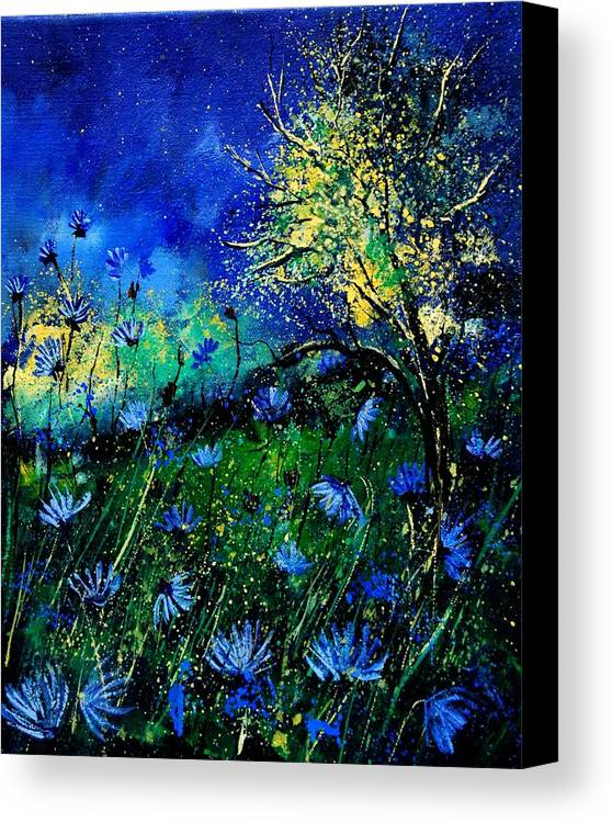 Poppies Canvas Print featuring the painting Wild Chocoree by Pol Ledent