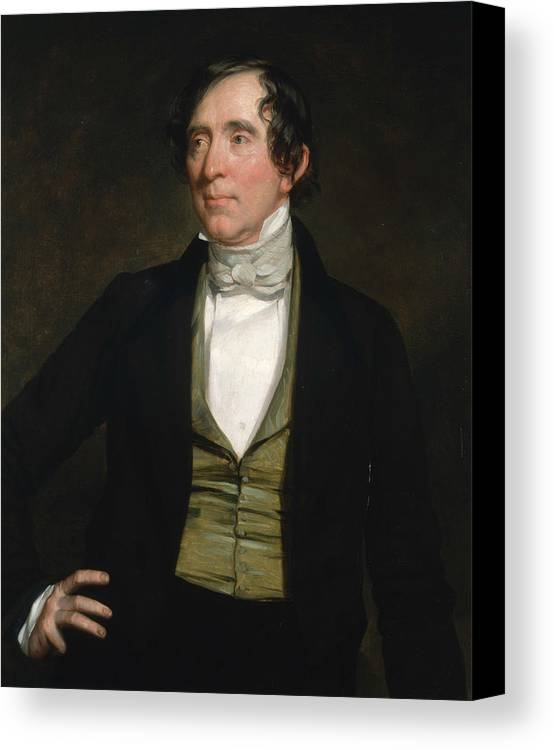 American Artist Canvas Print featuring the painting William C. Preston by George Peter Alexander Healy