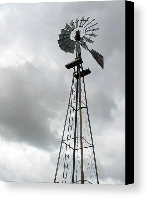 Windmill Canvas Print featuring the photograph Windmill by Margaret Fortunato