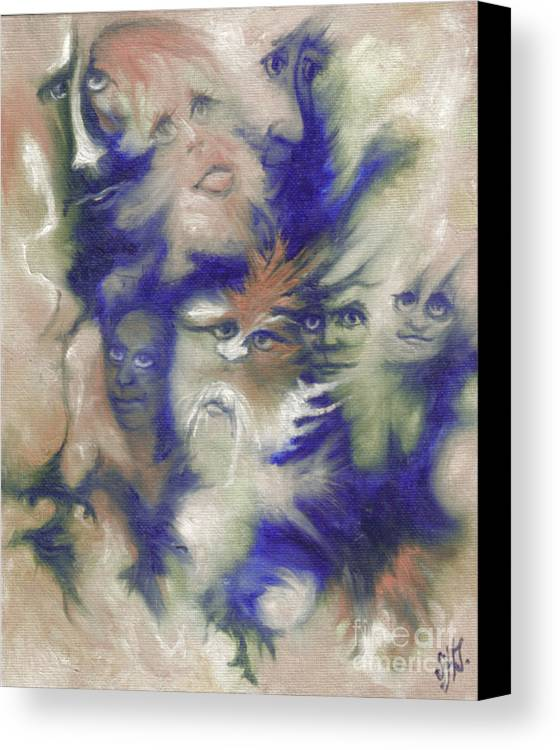 Mystical Canvas Print featuring the painting Wizard's Dream by Stephanie H Johnson