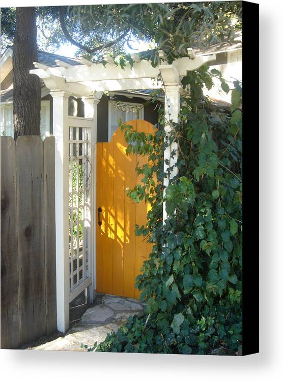 Yellow Doors Canvas Print featuring the photograph Yellow Door by Dorota Nowak