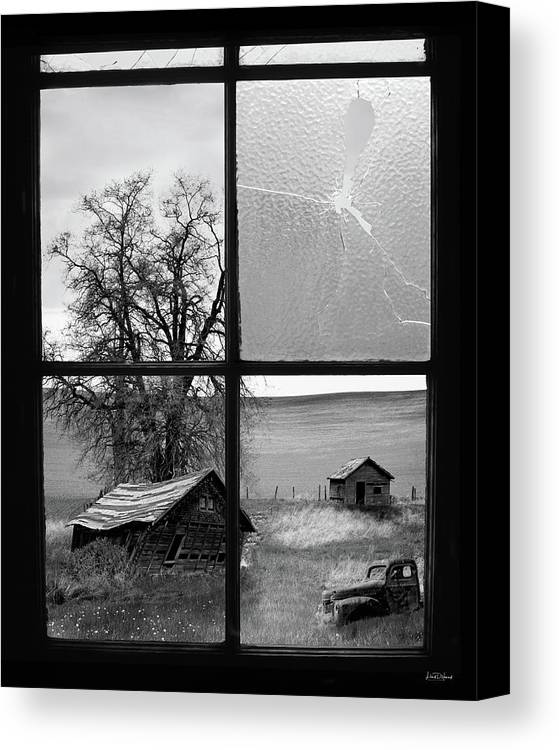 Black And White Canvas Print featuring the photograph Memories Past by Leland D Howard