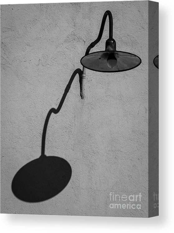 Shadow Canvas Print featuring the photograph Shadow Of Area Lighting by Eric Geschwindner