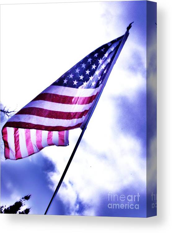 Flag Canvas Print featuring the photograph Sky Colors by Tammy Vulgamore