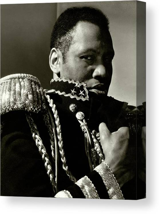 One Person Canvas Print featuring the photograph A Portrait Of Paul Robeson by Edward Steichen