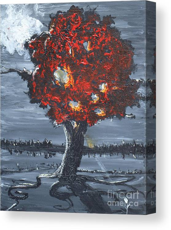 Landscape Canvas Print featuring the painting A Ray Of Healing by Stefan Duncan