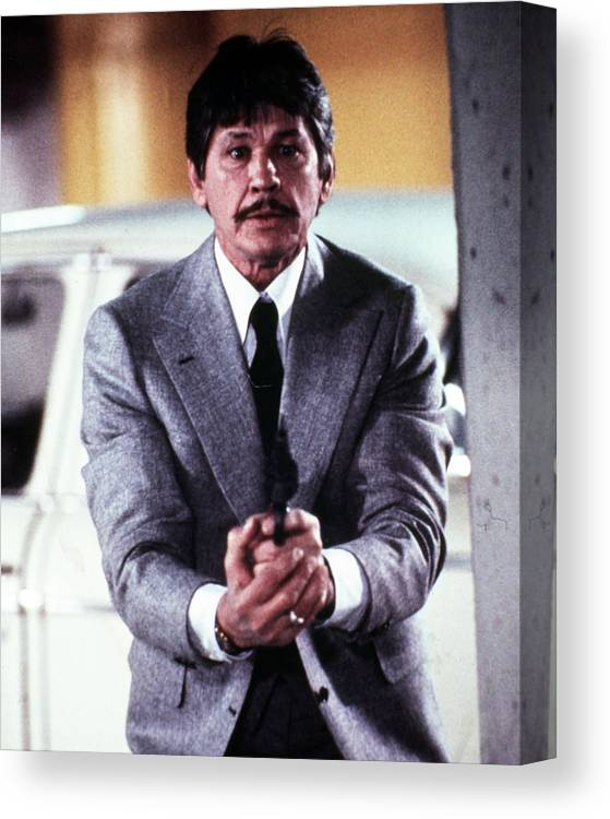Murphy's Law Canvas Print featuring the photograph Charles Bronson In Murphy's Law by Silver Screen