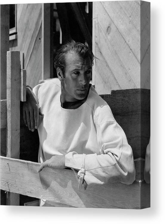 Outdoors Canvas Print featuring the photograph Portrait Of Gary Cooper by George Hoyningen-Huene