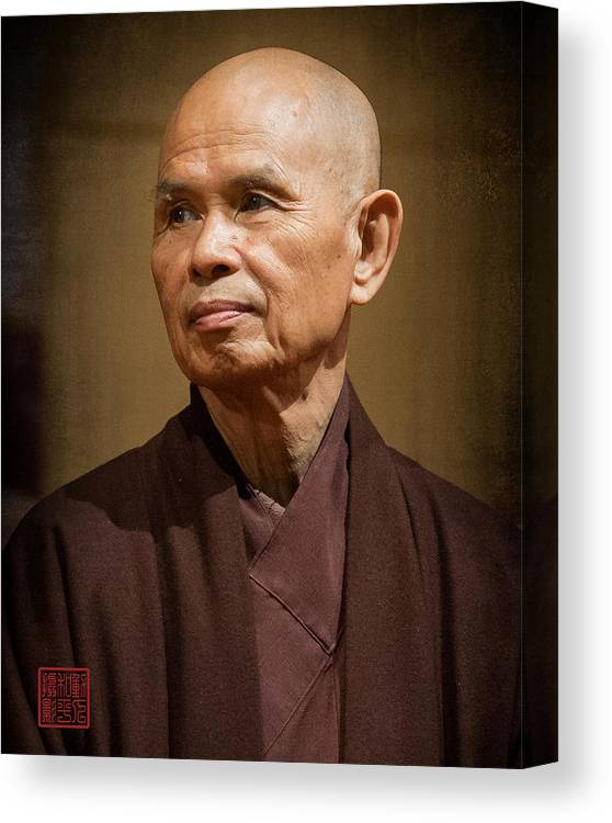 Thich Nhat Hanh Canvas Print featuring the photograph Thay In Thailand by Paul Davis