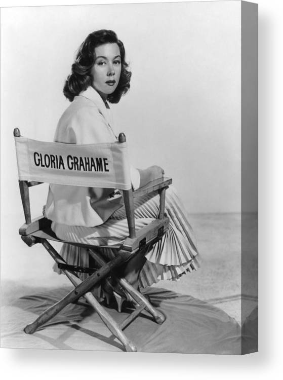 Gloria Grahame Canvas Print featuring the photograph Gloria Grahame by Silver Screen