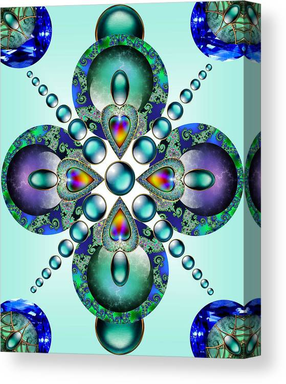 Kaleidoscope Canvas Print featuring the mixed media Kaleidoscope by Ellen Henneke