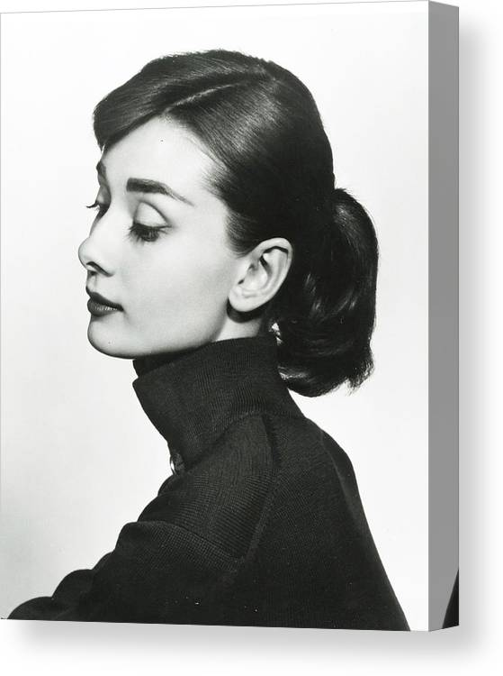 classic Canvas Print featuring the photograph Audrey Hepburn by Retro Images Archive