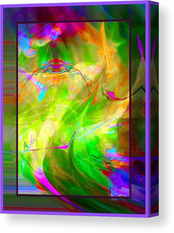 Abstract Canvas Print featuring the digital art After Midnight by Robert Roland