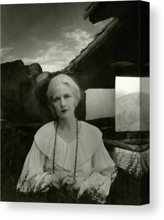 Actress Canvas Print featuring the photograph Ann Harding Wearing A Blouse by Edward Steichen