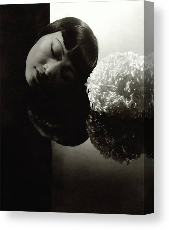 Actress Canvas Print featuring the photograph Anna May Wong Resting Her Head by Edward Steichen