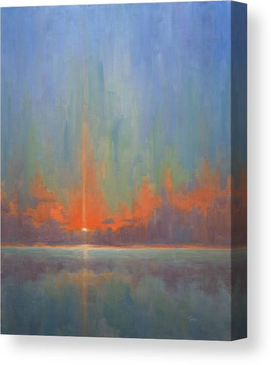 Sea Canvas Print featuring the painting Breaking Sky II by Timon Sloane