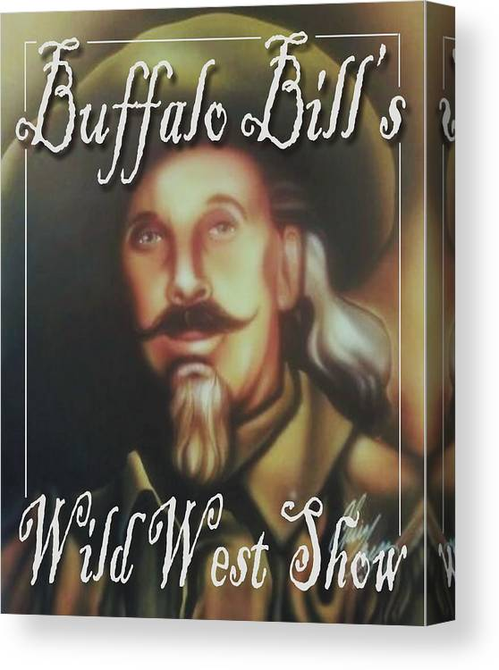 Wild West Show Buffalo Bill Canvas Print featuring the painting Buffalo Bill by Christopher Fresquez