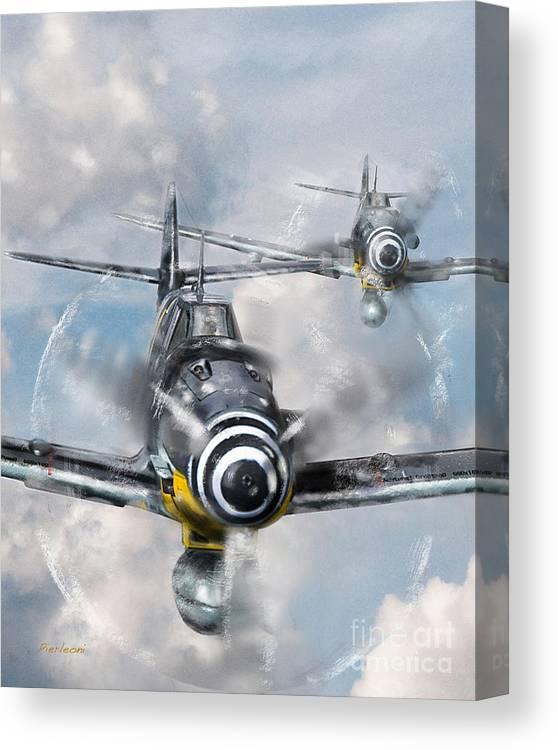 Airplanes Canvas Print featuring the photograph German Messerschmitt 109 by Tony Pierleoni