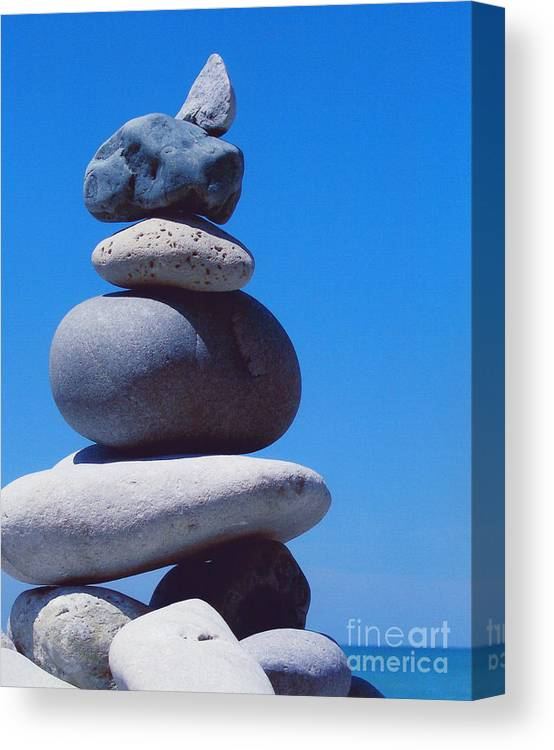 First Star Canvas Print featuring the photograph Inukshuk 1 By Jammer by First Star Art