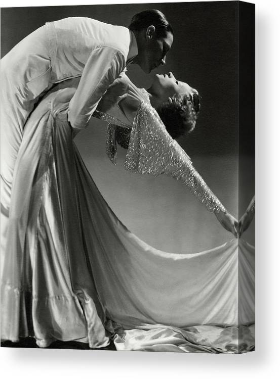 Dance Canvas Print featuring the photograph Jack Holland And June Hart Dancing by Horst P. Horst