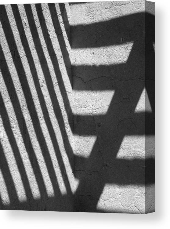 Shadows Canvas Print featuring the photograph Line D by Peter Hennessey