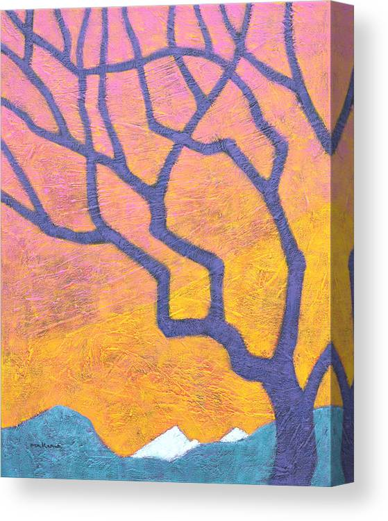 Landscape Canvas Print featuring the painting Luminous Daybreak by Carrie MaKenna